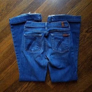 7FAM Wide Leg Blue Jeans
